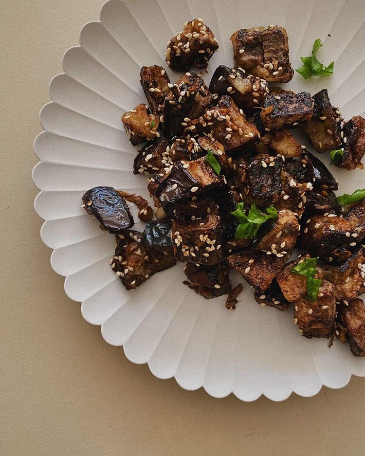 Aubergine med szechuan sauce *a must try* 8