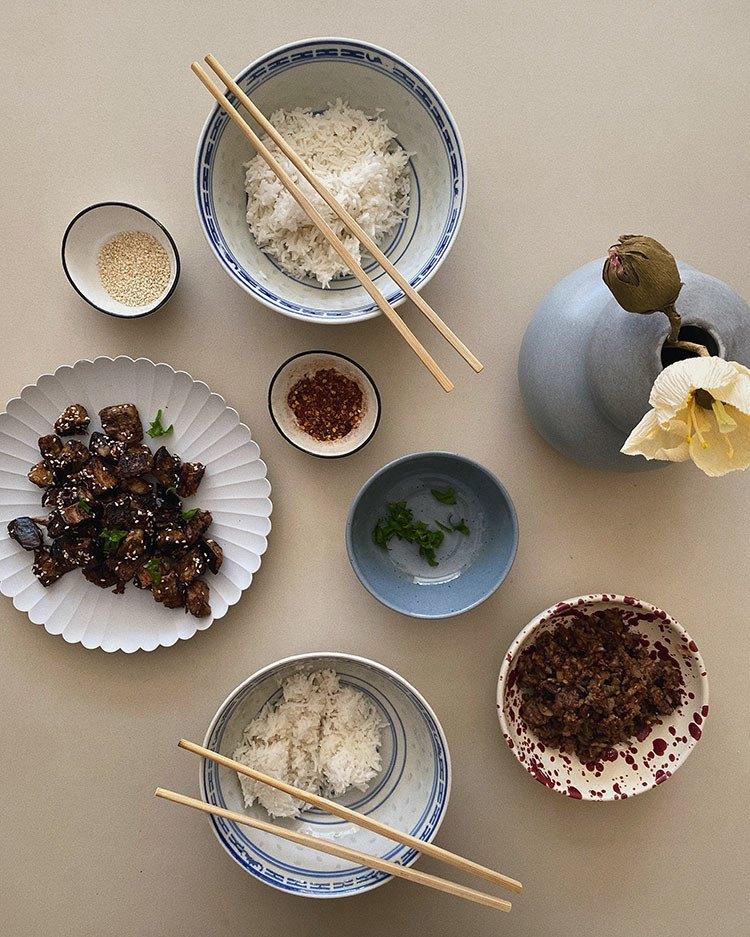 Aubergine med szechuan sauce *a must try* 10