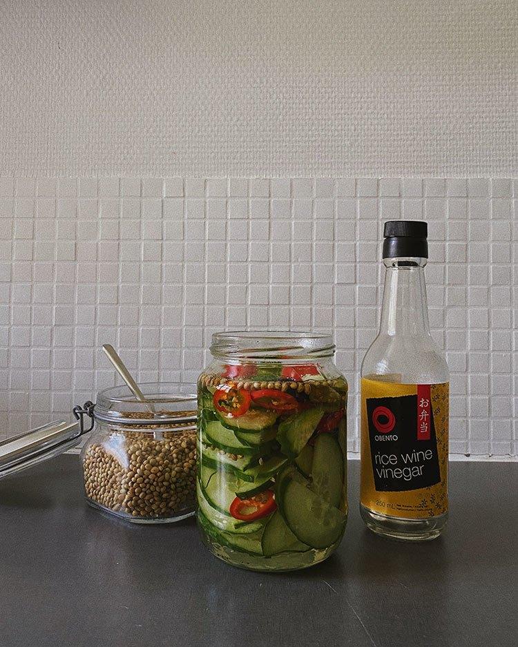 Opskrift på nemme syltede agurker med et asiatisk twist (selvfølgelig) 3