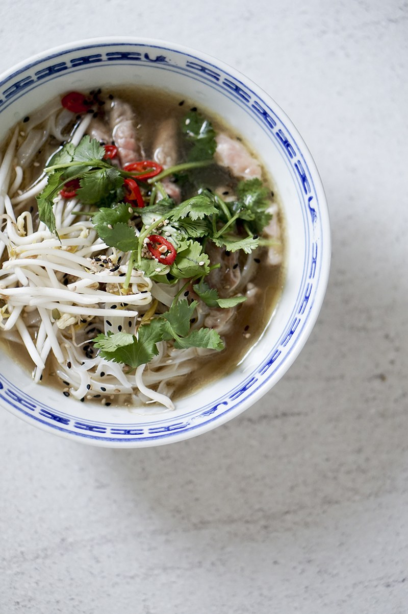 vietnamesisk pho suppe